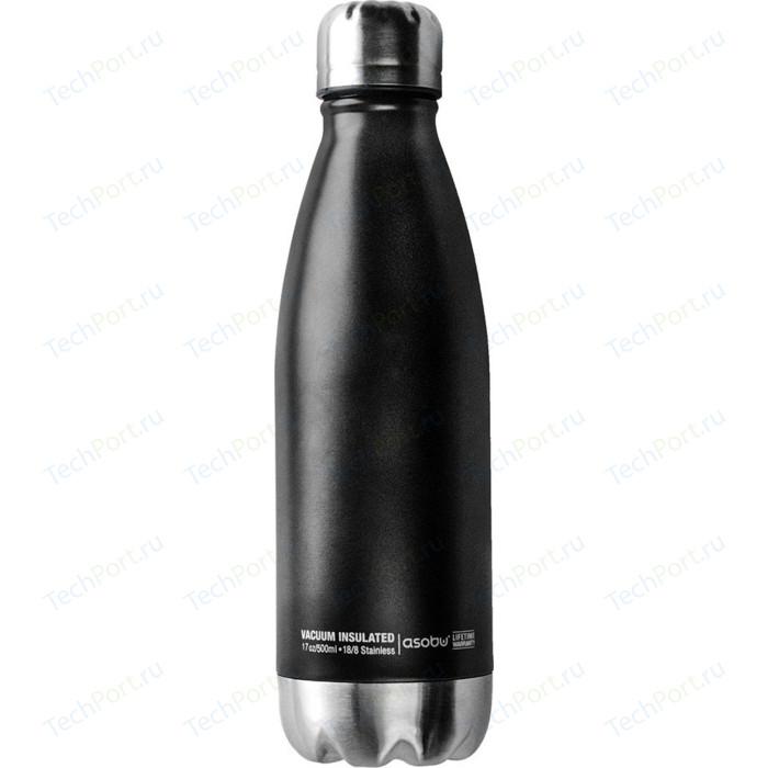 Термос-бутылка 0,51 л черная/стальная Asobu Central park (SBV17 black-silver)