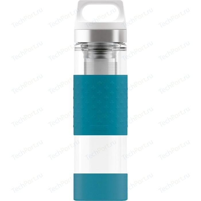 Термобутылка 0,4 л голубая Sigg H&C Glass WMB Midnight (8555.70)