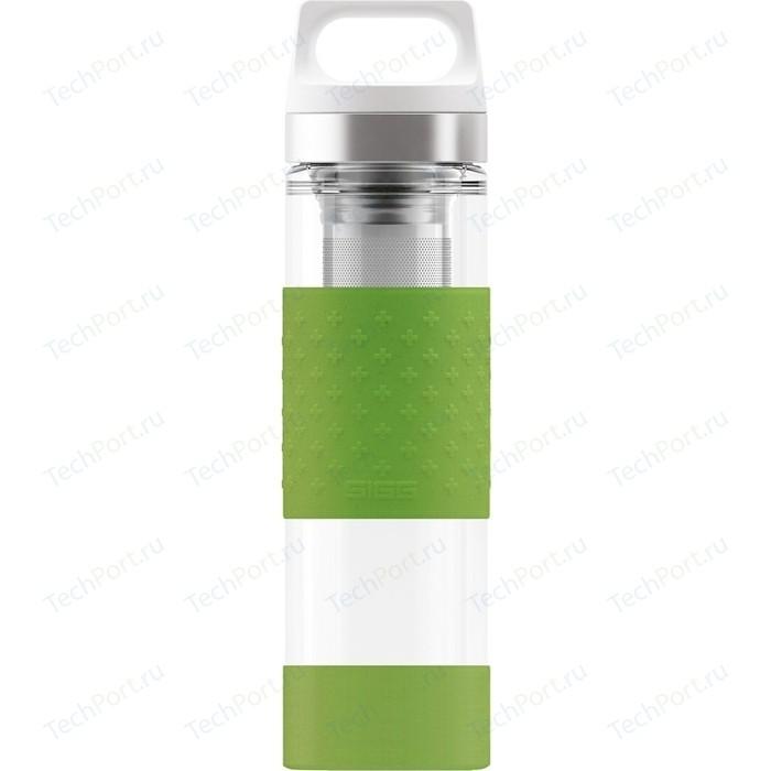 Термобутылка 0,4 л зеленая Sigg H&C Glass WMB Midnight (8555.80)
