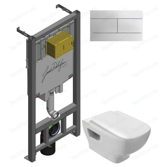 Комплект унитаза Jacob Delafon Struktura с инсталляцией, кнопкой, сиденьем микролифт (EDE102-00, E29025-NF, E70024-00, E4316-CP)