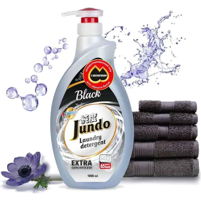 Гель для стирки Jundo Black концентрированный, черного белья 1 л, 65 стирок
