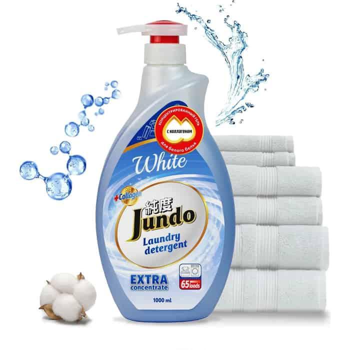 Гель для стирки Jundo White концентрированный, белого белья 1 л, 65 стирок