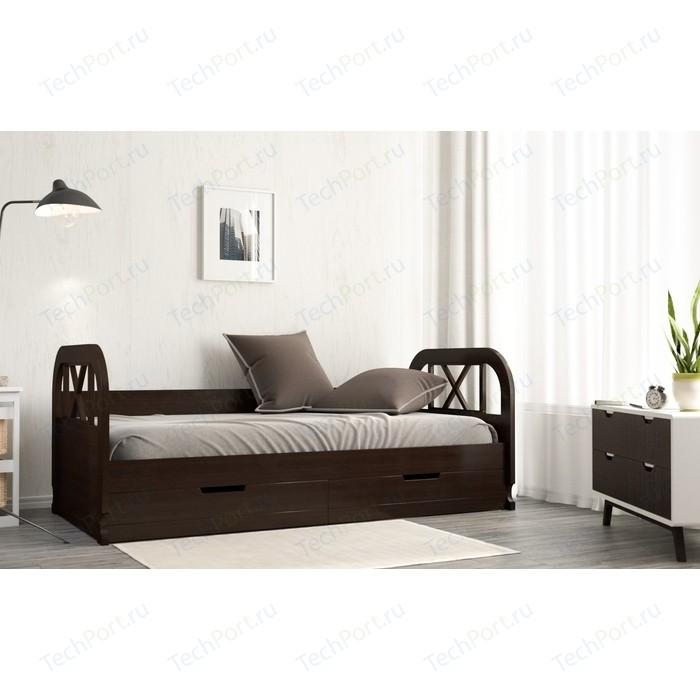 Кровать Miella Flying 120x200 венге