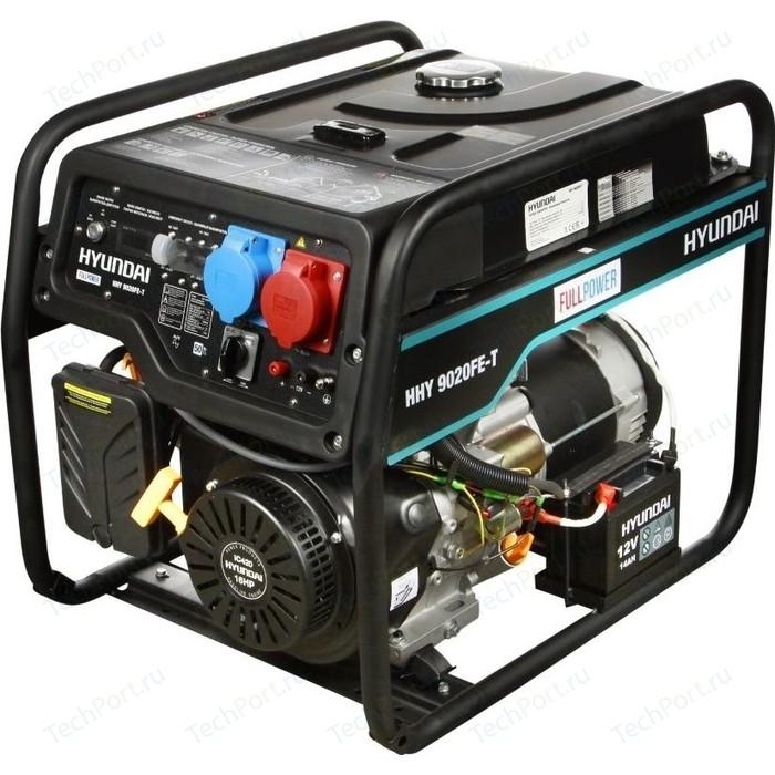 Бензиновый генератор Hyundai HHY 9020FE-T бензиновый генератор hyundai hhy 5020fe 230 в 4 5квт
