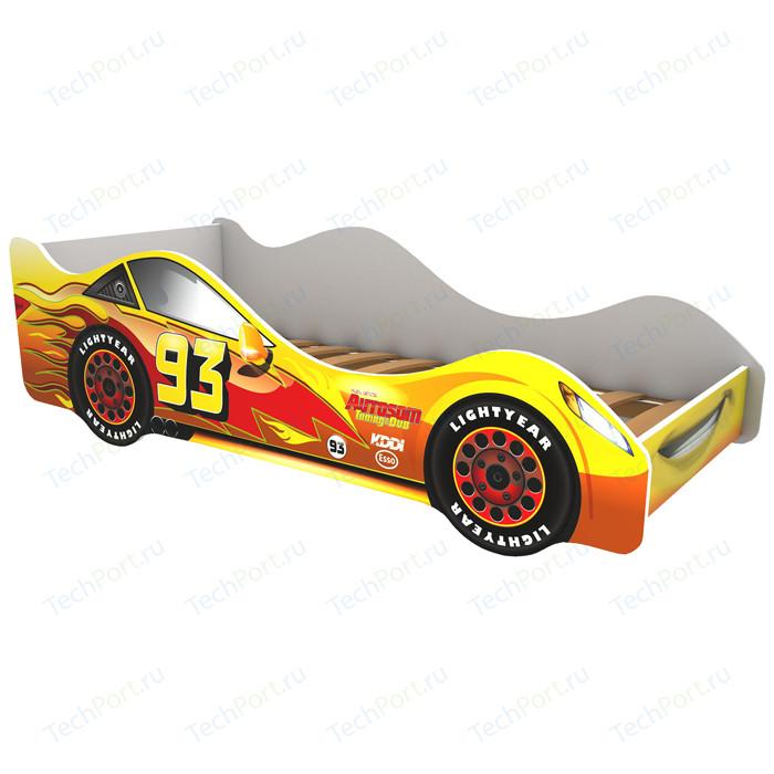 Кровать-машина Бельмарко Тачка желтая 160x70