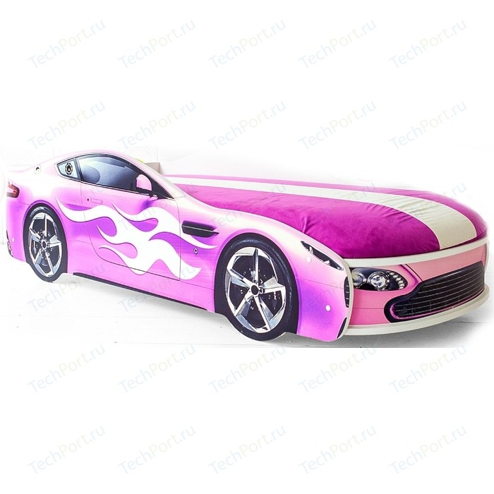 Кровать с матрасом Бельмарко Бондмобиль розовый
