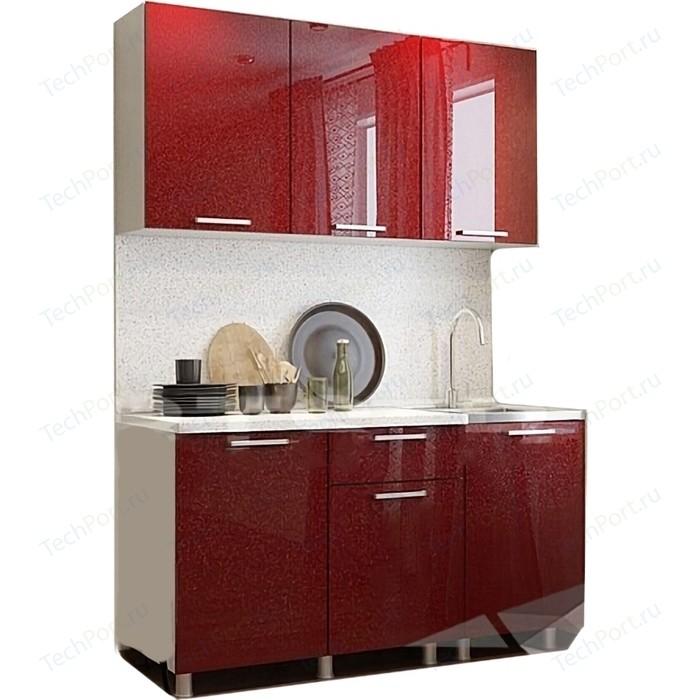 Кухня БТС Гранат блестки 1,5 м