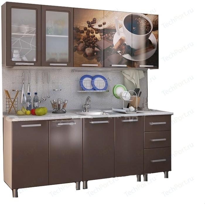 Кухня БТС Люкс шоколад 2,0 м