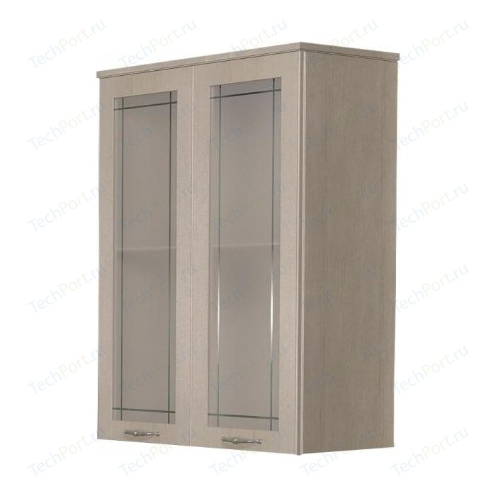 Шкаф Dreja Antia 60 2 дверки со стеклом, капучино (99.0419)
