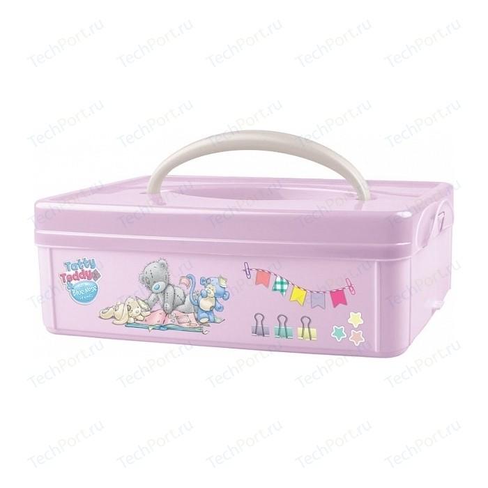 Коробка Бытпласт Универсальная С Ручкой Аппликацией Me To You 245х160х82 Мм (Розовый)