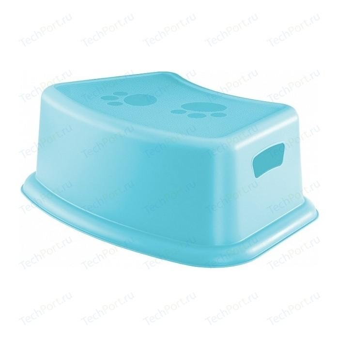 Подставка Детская Бытпласт Пластишка (Голубой) с резиновыми вставками выпечка и приготовление пластишка тёрка детская 200х98х26 мм