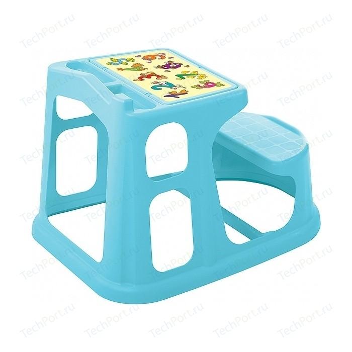 Стол-Парта Детская Бытпласт Пластишка С Аппликацией 730х550х500 Мм (Голубой) выпечка и приготовление пластишка тёрка детская 200х98х26 мм