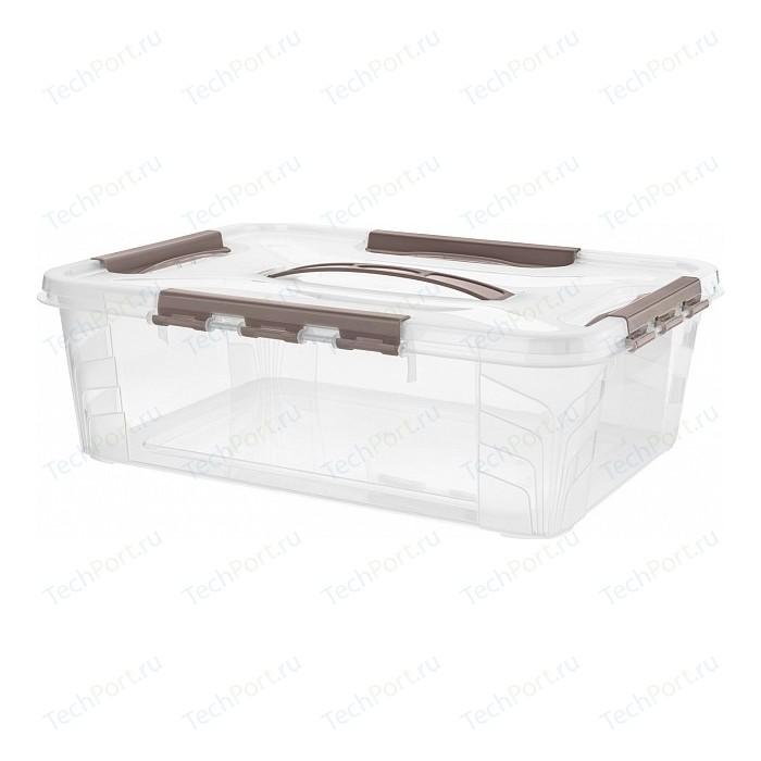 Ящик Бытпласт Эконова Для Хранения Универсальный С Замками И Ручкой Grand Box, 390х290х124мм, 10л