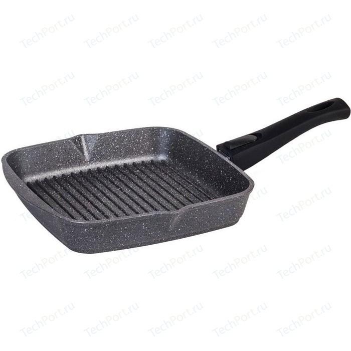 цена на Сковорода-гриль низкая со съемной ручкой Мечта 25x25 см Гранит Black (065802)