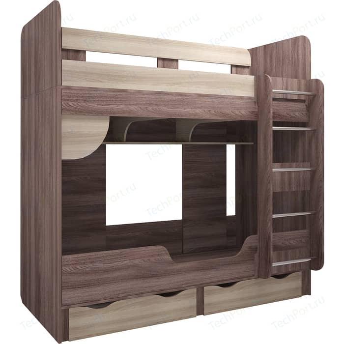 Кровать двухъярусная Комфорт - S Доминик М 14 шимо темный/шимо светлый стол книжка комфорт s войцех 4 шимо светлый шимо темный