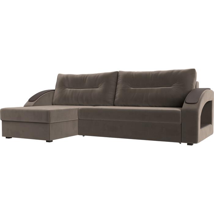 Фото - Угловой диван Лига Диванов Канзас велюр коричневый левый угол угловой диван лига диванов канзас микровельвет черный левый угол