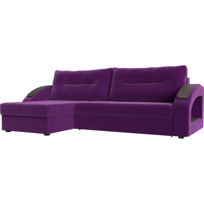 Фото - Угловой диван Лига Диванов Канзас микровельвет фиолетовый левый угол угловой диван лига диванов канзас микровельвет черный левый угол