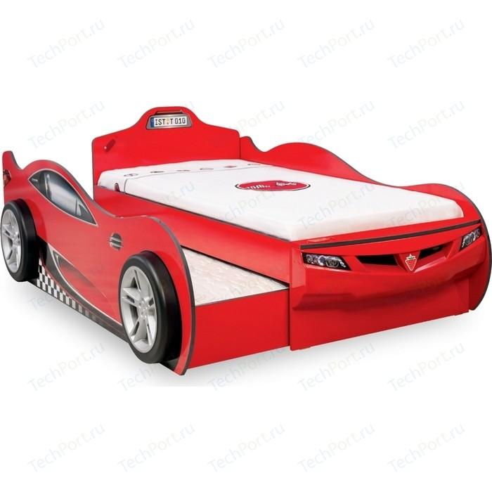 Кровать Cilek Coupe красная с выдвижным спальным местом 20.03.1306.00
