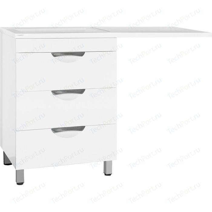 Тумба под раковину Style line Жасмин Люкс 60 (120) стиральную машину, белая (4650134471458)