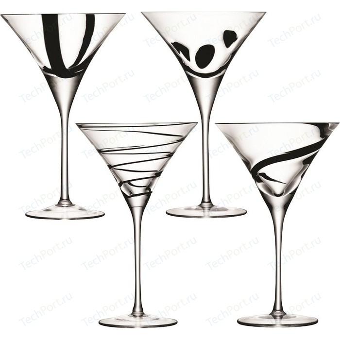 Набор из 4 бокалов для коктейлей 250 мл LSA International Jazz (G951-08-987)