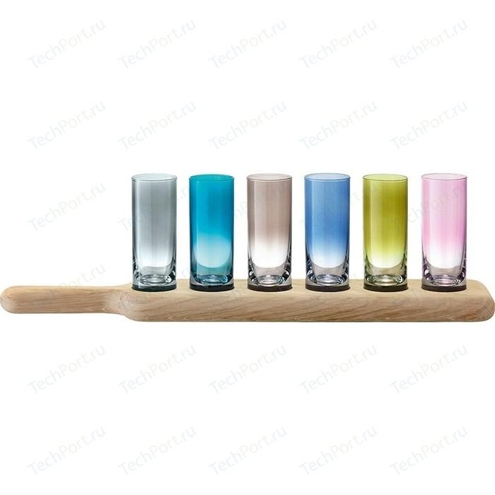 Набор из 6 стопок на подставке 40 см цветное стекло LSA International Paddle (G1049-03-666)