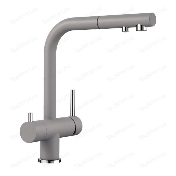 Смеситель для кухни Blanco Fontas-S II под фильтр, выдвижной излив, алюметаллик (525201)