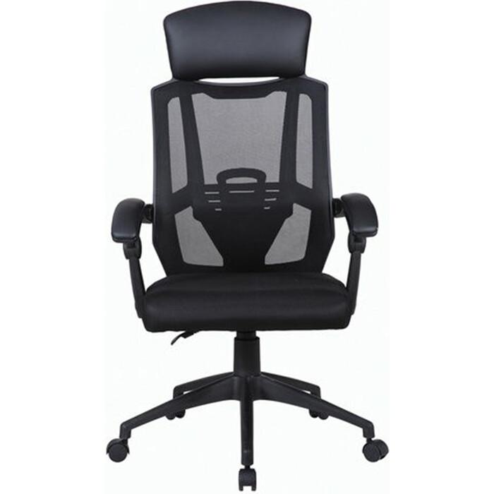 Кресло офисное Brabix Nexus ER-401 синхромеханизм, подголовник черное