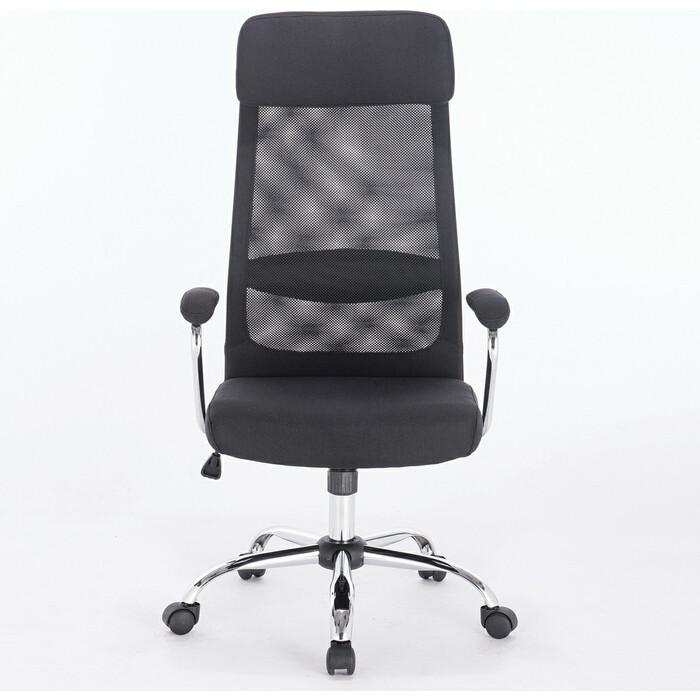 Кресло офисное Brabix Flight EX-540 хром, ткань, сетка черное