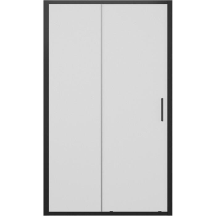 Душевая дверь Bravat Blackline 120x200 в нишу, черная (BD120.4101B)