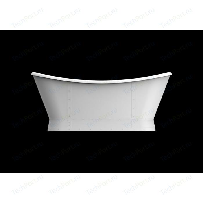 Акриловая ванна BelBagno 168x78 слив-перелив хром (BB33 + BB39-OVF-CRM)