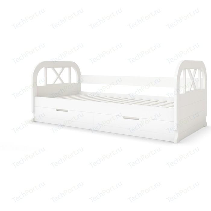 Кровать Miella Flying 80x200 белый (эмаль)