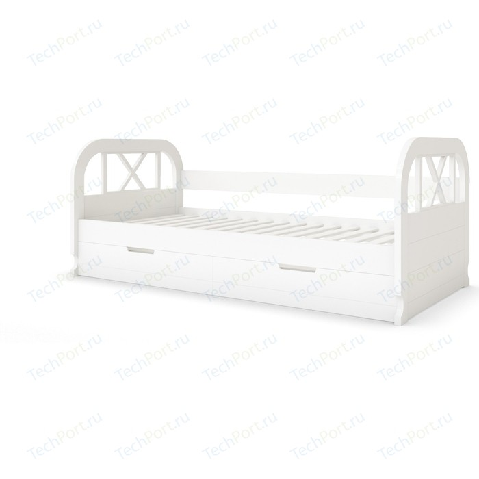 Кровать Miella Flying 120x200 белый (эмаль)