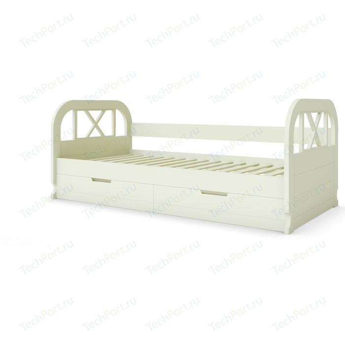 Кровать Miella Flying 90x190 слоновая кость (эмаль)