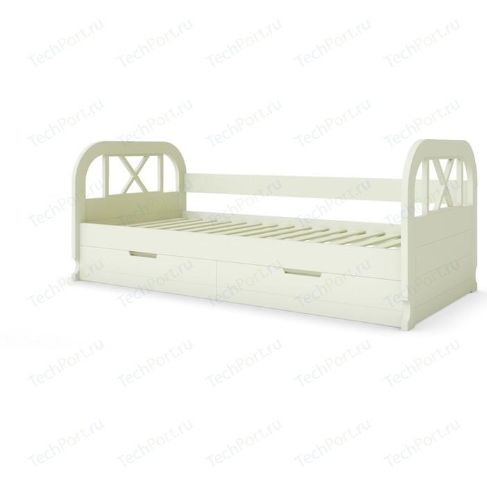 Кровать Miella Flying 90x200 слоновая кость (эмаль)