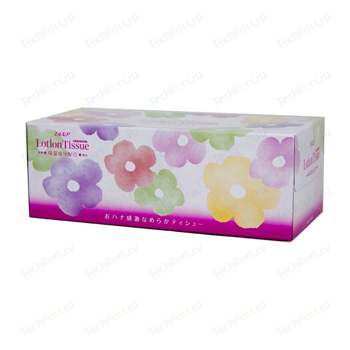 Салфетки бумажные Kami Shodji ELLEMOI Lotion с экстрактом малины 2 слоя 200 шт в пачке носовые платочки kami shodji ellemoi 2 слоя 10 штук в пачке спайка из 20 пачек
