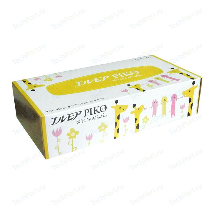 Салфетки бумажные Kami Shodji ELLEMOI Piko 2 слоя 160 шт в пачке носовые платочки kami shodji ellemoi 2 слоя 10 штук в пачке спайка из 20 пачек