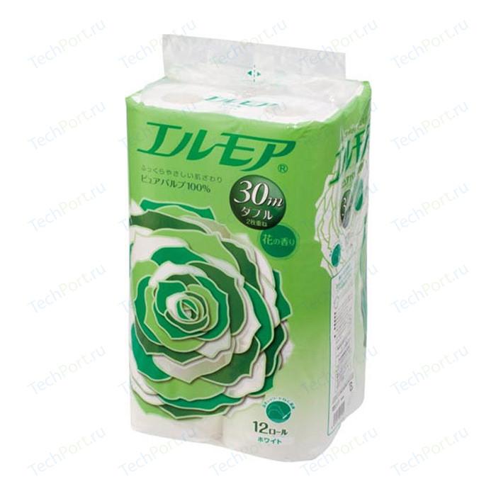 Туалетная бумага Kami Shodji ELLEMOI ароматизированная 2 слоя, 12 рулонов 30 м носовые платочки kami shodji ellemoi 2 слоя 10 штук в пачке спайка из 20 пачек