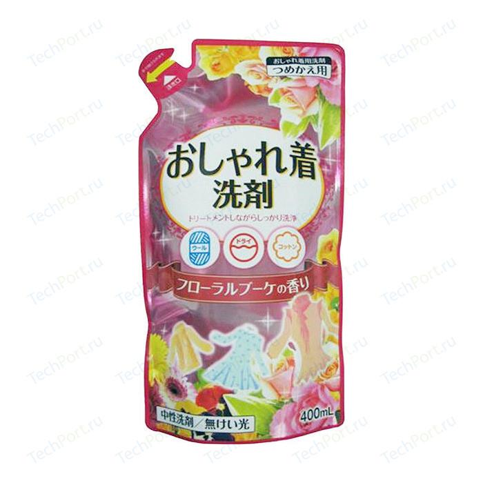 Жидкое средство для стирки Nihon Detergent деликатных тканей (натуральное, на основе пальмового масла), (запаска) 400 мл