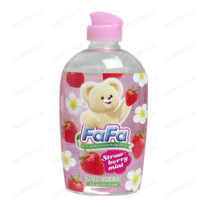 Средство для мытья посуды Nissan FaFa с ароматом клубники и мяты, 270 мл