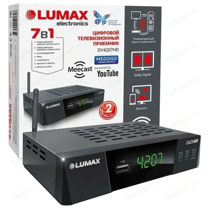 Тюнер DVB-T2 Lumax DV-4207HD