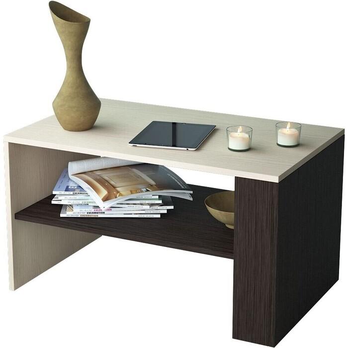 Журнальный стол Мастер Арто-21 (дуб молочный-венге) МСТ-СЖА-21-ДВ-16