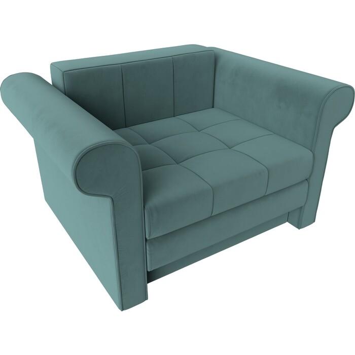 Кресло-кровать АртМебель Берли велюр бирюза