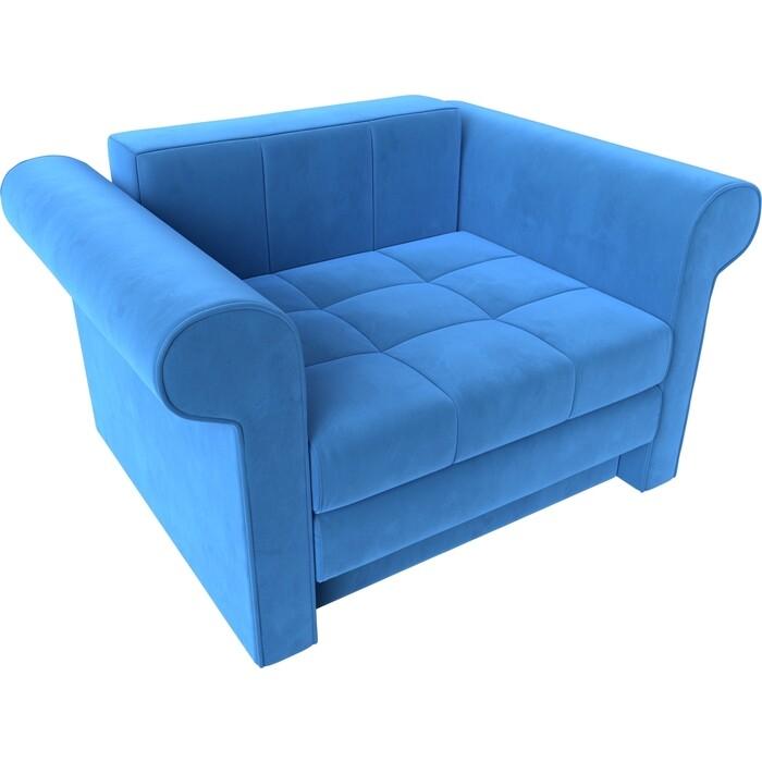 Кресло-кровать АртМебель Берли велюр голубой
