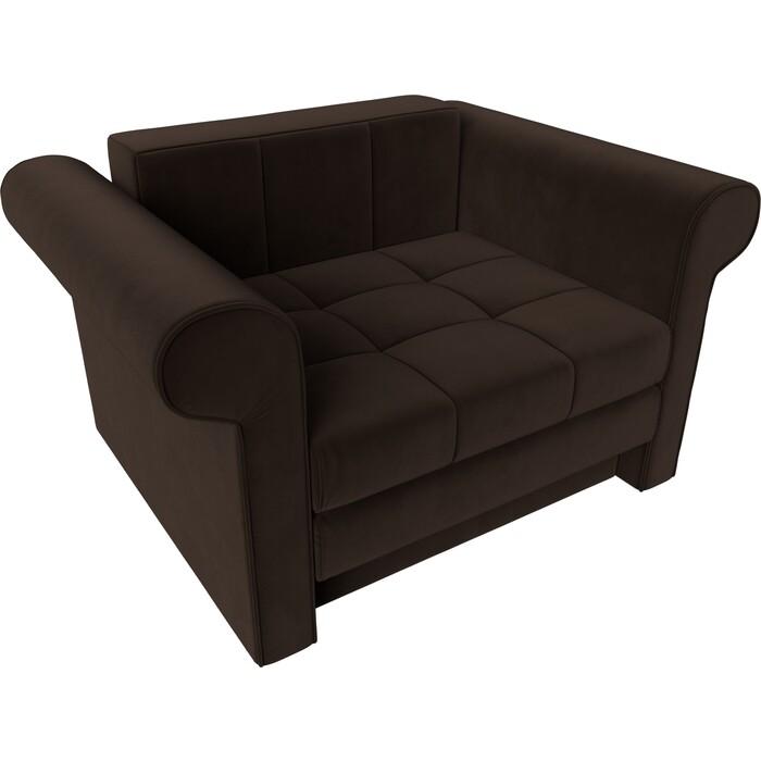 Кресло-кровать АртМебель Берли вельвет коричневый
