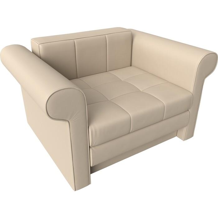 Кресло-кровать АртМебель Берли экокожа бежевый
