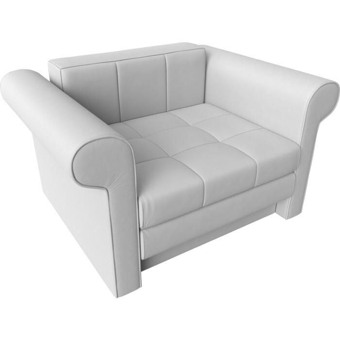 Кресло-кровать АртМебель Берли экокожа белый