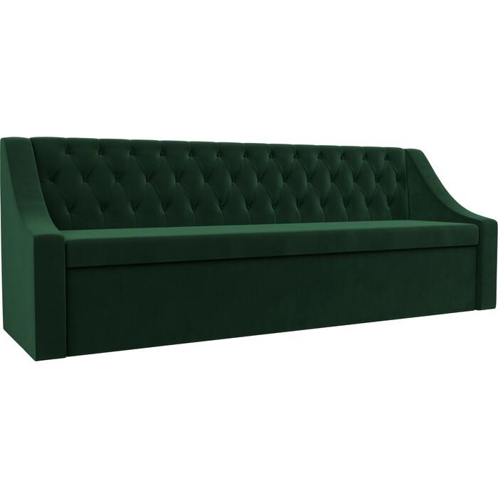 Кухонный диван АртМебель Мерлин велюр зеленый прямой