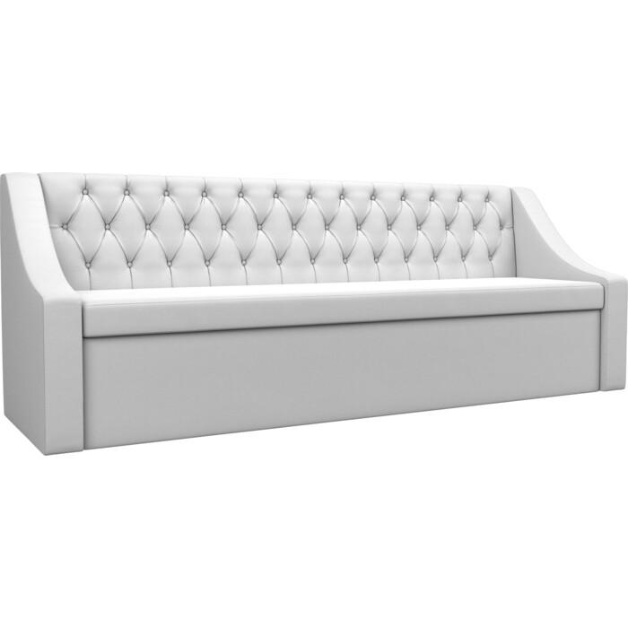 Кухонный диван АртМебель Мерлин экокожа белый прямой