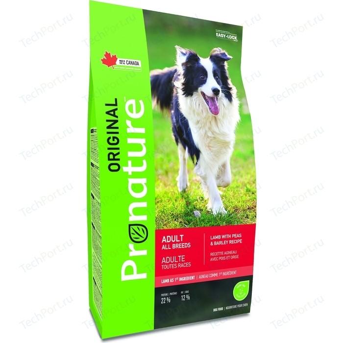 Сухой корм Pronature Original Adult Dog Lamb with Peas and Barley Recipe с ягненком, горохом и ячменем для собак всех пород 18кг (102.5291)