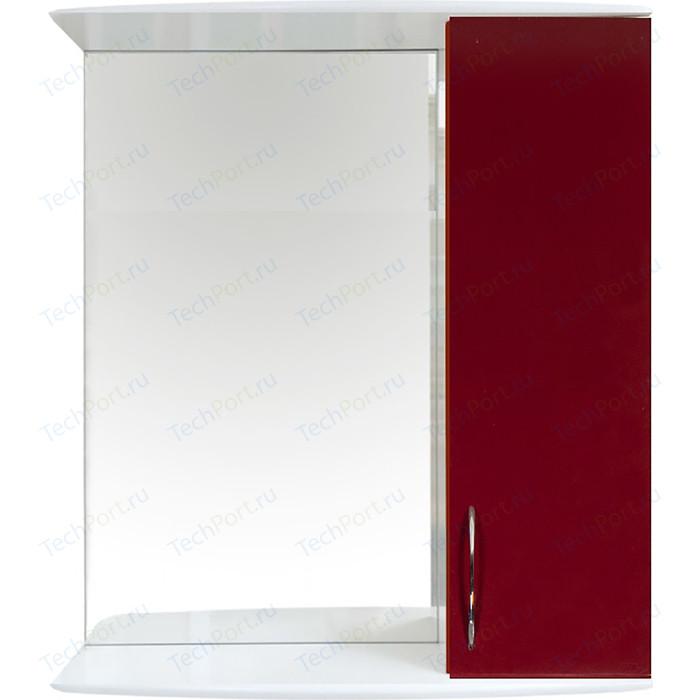 Шкаф-зеркало Orange Роса 50 бордовое (Ro-50ZSC)
